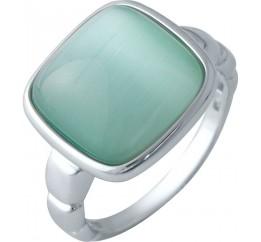 Серебряное кольцо SilverBreeze с кошачим глазом (2015581) 18 размер