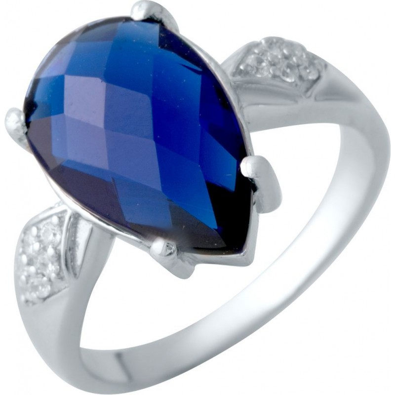 Серебряное кольцо SilverBreeze с сапфиром nano (2017912) 17 размер