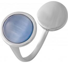 Серебряное кольцо SilverBreeze с кошачим глазом (2015611) 18 размер