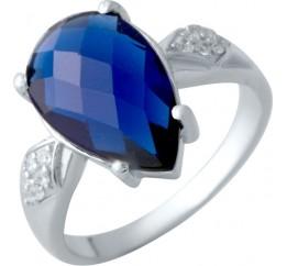Серебряное кольцо SilverBreeze с сапфиром nano (2017912) 16.5 размер