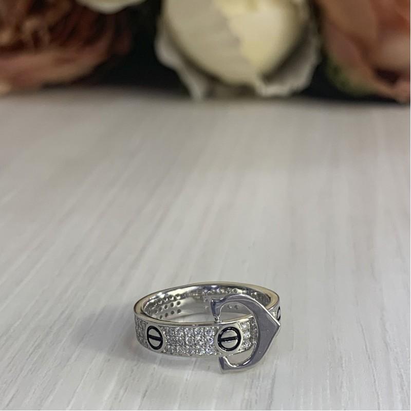 Серебряное кольцо SilverBreeze с фианитами (2001669) 18 размер