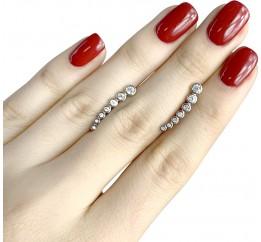 Серебряные серьги SilverLine с фианитами (1955871)