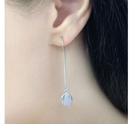 Серебряные серьги SilverLine без камней (1584033)