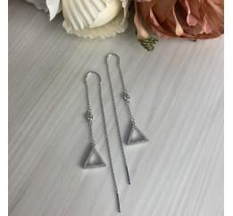 Серебряные серьги SilverBreeze с фианитами (2001300)