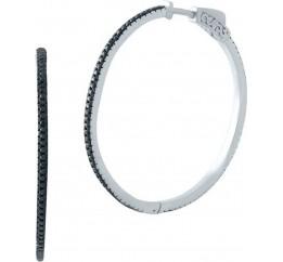 Серебряные серьги SilverBreeze с фианитами (1998298)