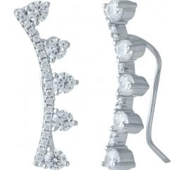 Серебряные серьги SilverBreeze с фианитами (1987223)
