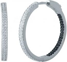 Серебряные серьги SilverBreeze с фианитами (1985076)