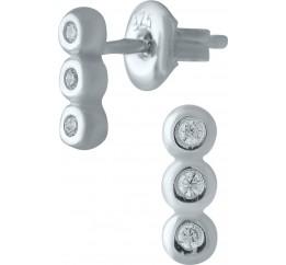 Серебряные серьги SilverBreeze с фианитами (1978375)