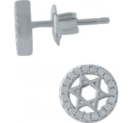 Серебряные серьги SilverBreeze с фианитами (1978351)