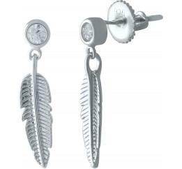 Серебряные серьги SilverBreeze с фианитами (1978283)