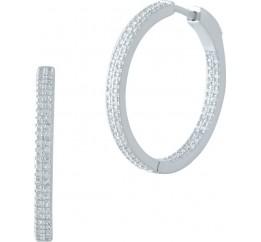 Серебряные серьги SilverBreeze с фианитами (1977781)
