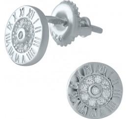 Серебряные серьги SilverBreeze с фианитами (1976944)