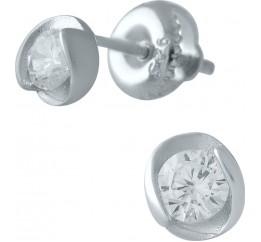 Серебряные серьги SilverBreeze с фианитами (1976937)