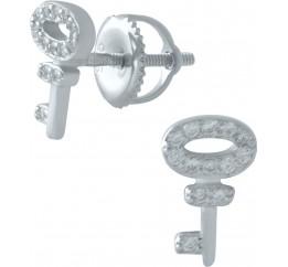 Серебряные серьги SilverBreeze с фианитами (1974810)