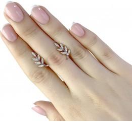Серебряные серьги SilverBreeze с фианитами (1956540)