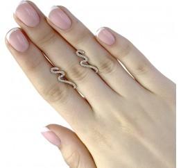 Серебряные серьги SilverBreeze с фианитами (1956496)