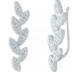 Серебряные серьги SilverBreeze с фианитами (1955918)