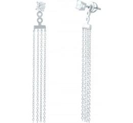 Серебряные серьги SilverBreeze с фианитами (1946220)