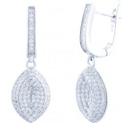 Серебряные серьги SilverBreeze с фианитами (1712825)