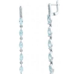 Серебряные серьги SilverBreeze с фианитами (0922775)