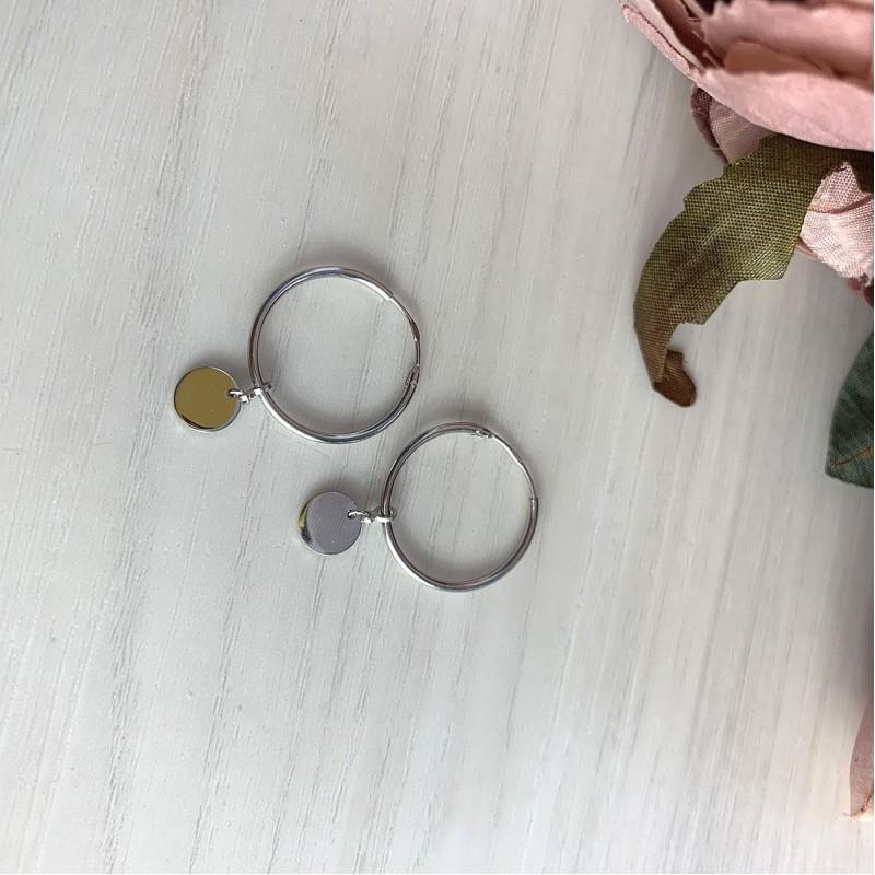 Серебряные серьги SilverBreeze без камней (2023852)
