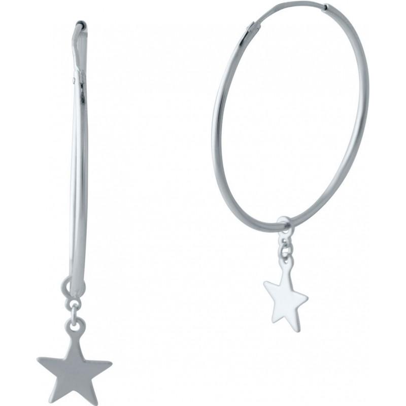 Серебряные серьги SilverBreeze без камней (2023913)