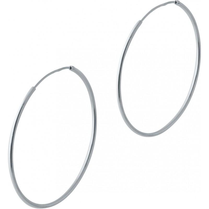 Серебряные серьги SilverBreeze без камней (2024019)
