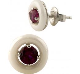 Серебряные серьги SilverBreeze с керамикой (0787343)