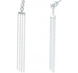 Серебряные серьги SilverBreeze без камней (1951507)