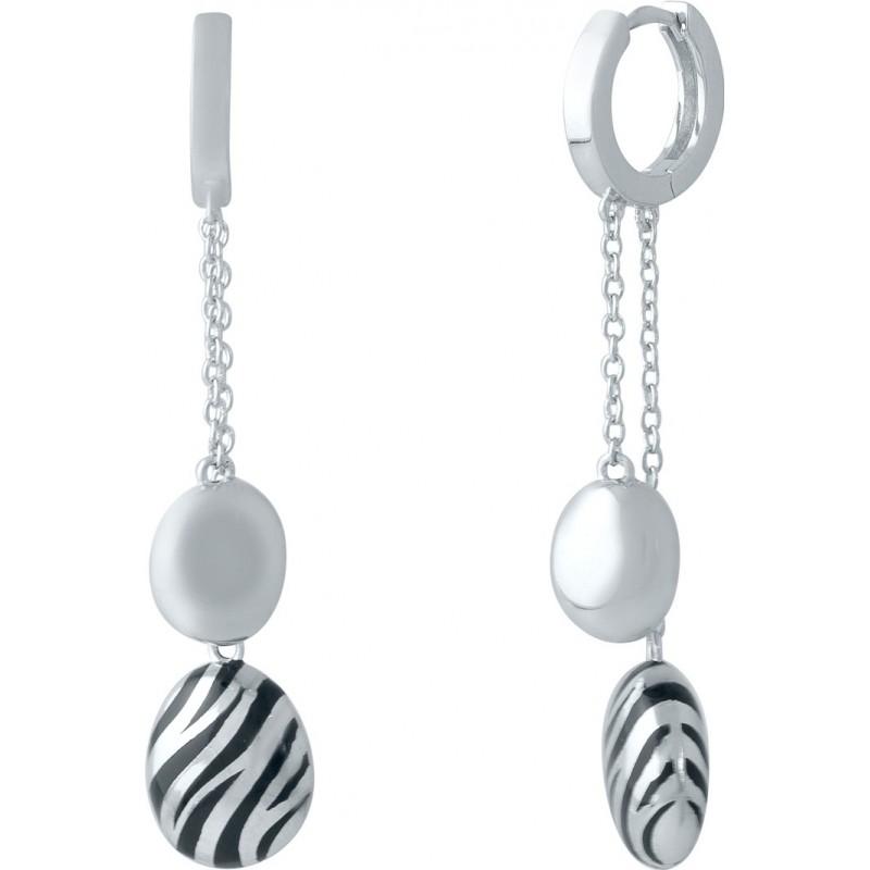 Серебряные серьги SilverBreeze с емаллю (1985670)