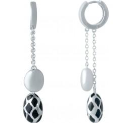 Серебряные серьги SilverBreeze с емаллю (1985687)