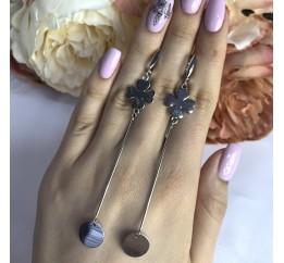 Серебряные серьги SilverBreeze без камней (2001881)