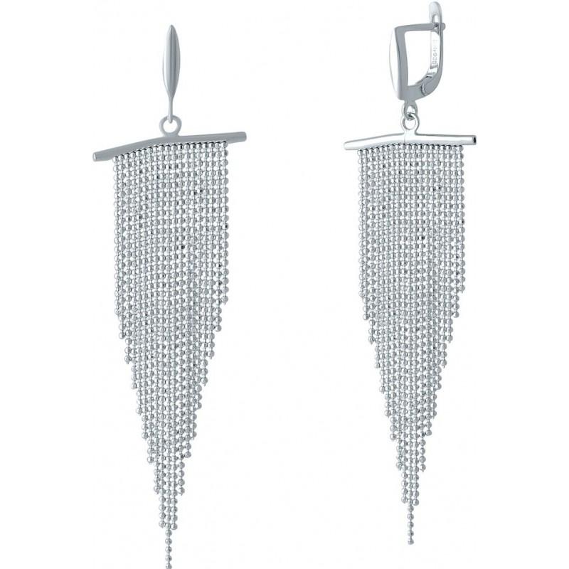 Серебряные серьги SilverBreeze без камней (2001966)