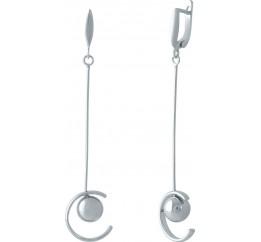 Серебряные серьги SilverBreeze без камней (1973837)