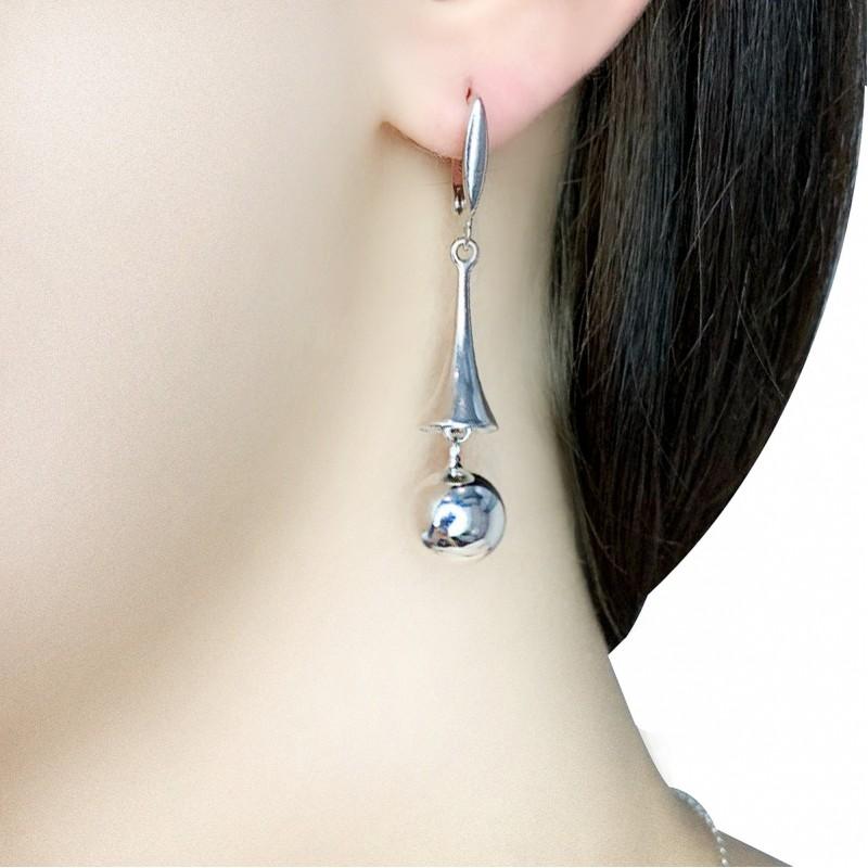 Серебряные серьги SilverBreeze без камней (1973882)