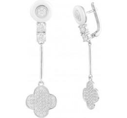 Серебряные серьги SilverBreeze с , керамикой (1577370)