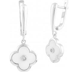 Серебряные серьги SilverBreeze с керамикой (1577424)