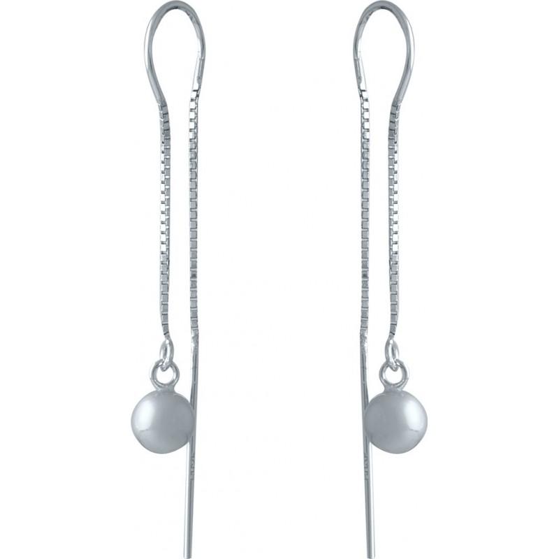 Серебряные серьги SilverBreeze без камней (1986059)