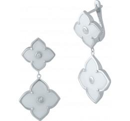 Серебряные серьги SilverBreeze с керамикой (1982624)