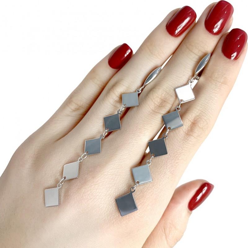 Серебряные серьги SilverBreeze без камней (1982662)