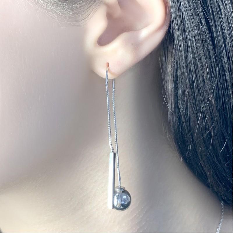 Серебряные серьги SilverBreeze без камней (1951231)