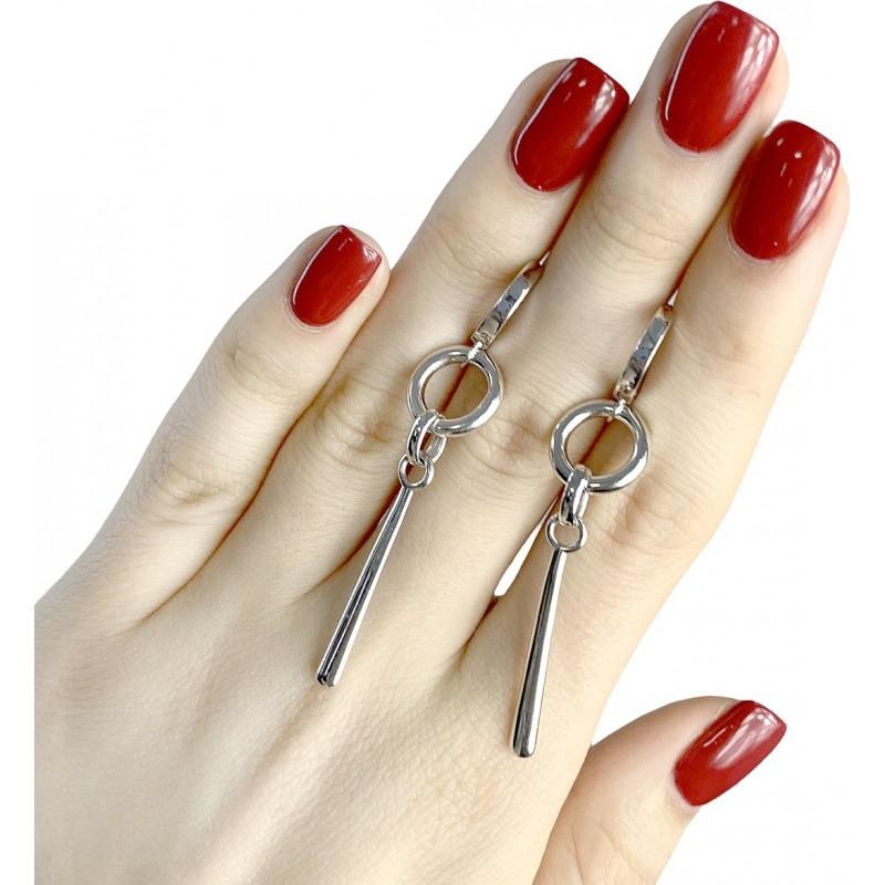 Серебряные серьги SilverBreeze без камней (1951347)