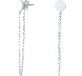 Серебряные серьги SilverBreeze без камней (1951491)