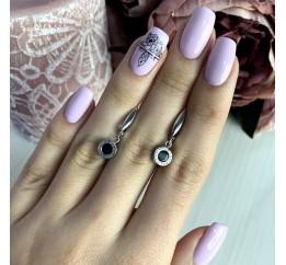 Серебряные серьги SilverBreeze с емаллю (2000297)