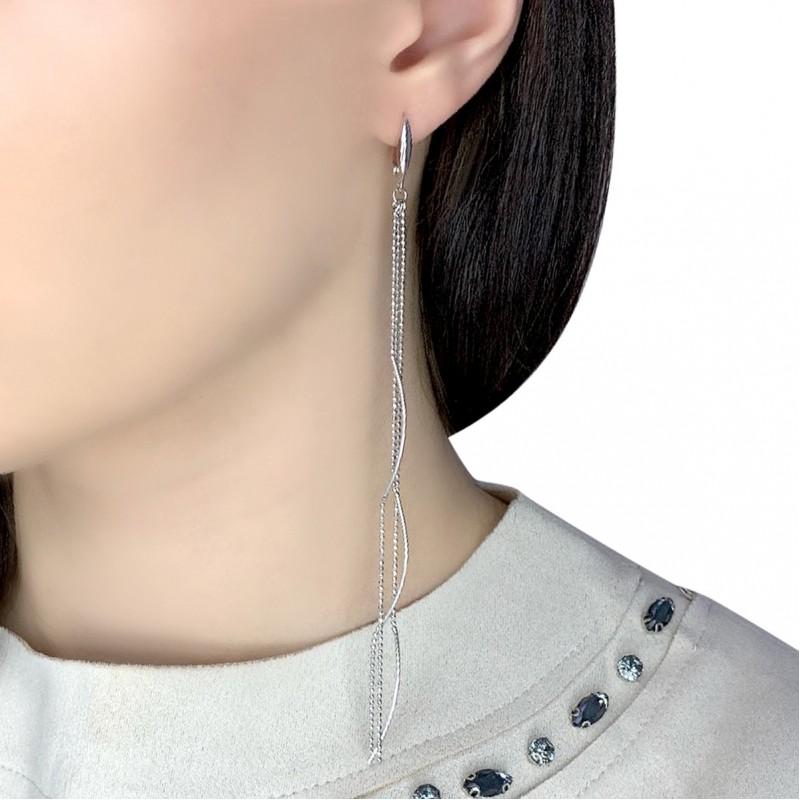 Серебряные серьги SilverBreeze без камней (1983317)