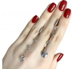 Серебряные серьги SilverBreeze без камней (1983324)