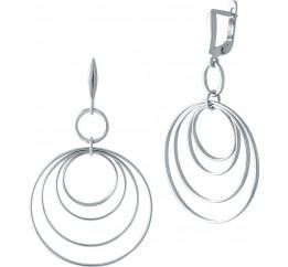 Серебряные серьги SilverBreeze без камней (1983331)