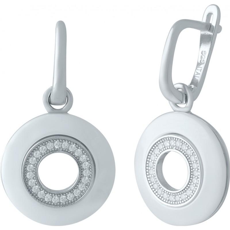 Серебряные серьги SilverBreeze с керамикой (1975527)