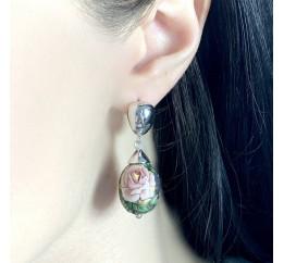 Серебряные серьги SilverBreeze с емаллю (2003960)