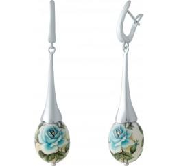 Серебряные серьги SilverBreeze с емаллю (2004097)